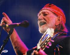 WILLIE NELSON Signed Autographed 11x14 Photo PSA/DNA #AA23847