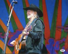 WILLIE NELSON Signed Autographed 11x14 Photo PSA/DNA #W89232