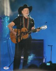 WILLIE NELSON Signed Autographed 11x14 Photo PSA/DNA #W89265