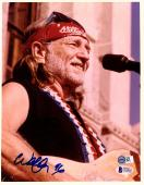 WILLIE NELSON Signed Autographed 8x10 Photo BECKETT BAS #C02462