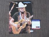 Willie Nelson Signed Autographed 9.5x12 Magazine Photo 1997 PSA Certified