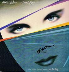 Willie Nelson Signed - Autographed Angel Eyes LP Record Album Cover - Guaranteed to pass PSA or JSA