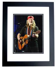 Willie Nelson Signed - Autographed Country Music Star - Concert 8x10 inch Photo BLACK CUSTOM FRAME - Guaranteed to pass PSA or JSA