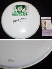 Willie Nelson Signed - Autographed DrumHead with Willie Nelson Think Green sticker - JSA Certificate of Authenticity