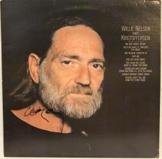 "WILLIE NELSON Signed Autographed ""Kristofferson"" Album LP JSA #L83222"