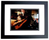 Willie Nelson Signed - Autographed Legendary Country Music Singer 8x10 inch Photo BLACK CUSTOM FRAME - Guaranteed to pass PSA or JSA