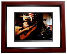 Willie Nelson Signed - Autographed Legendary Country Music Singer 8x10 inch Photo MAHOGANY CUSTOM FRAME - Guaranteed to pass PSA or JSA