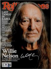 Willie Nelson Signed Autographed Rolling Stone Magazine Country Legend GA774640