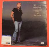 Willie Nelson Signed Autographed Somewhere Over the Rainbow LP Record PSA/COA