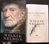 Willie Nelson signed book It's a Long Story 1st Print Beckett BAS Authentic auto