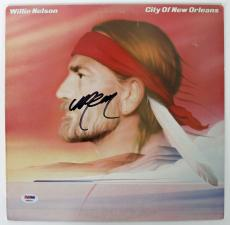 Willie Nelson Signed City Of New Orleans Album Cover PSA/DNA #AB43079