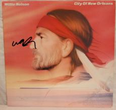 "WILLIE NELSON Signed ""City of New Orleans"" Album LP JSA #L83220"