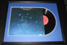 Willie Nelson Signed Framed 1978 Record Album Display Stardust JSA
