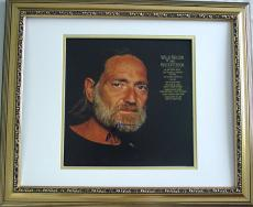 WILLIE NELSON Signed Framed Kristofferson Album LP & PROOF  AFTAL