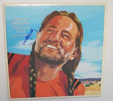 WILLIE NELSON Signed Greatest Hits And Some That Will Be Country ALBUM LP