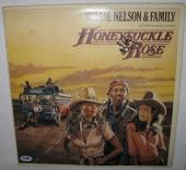 Willie Nelson Signed 'honeysuckle Rose' Album Cover Autograph Psa/dna Coa