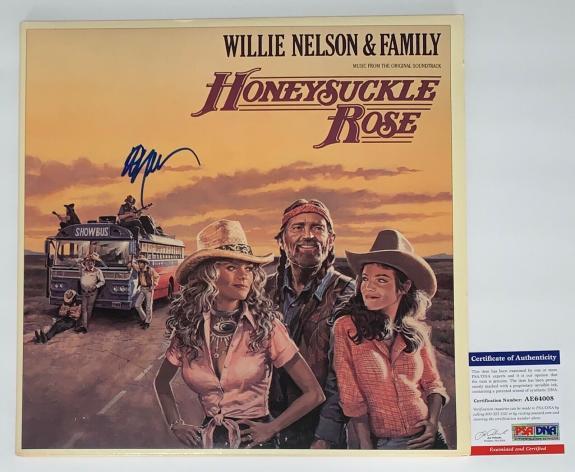 Willie Nelson Signed Honeysuckle Rose Soundtrack Record Album Psa Coa Ae64008