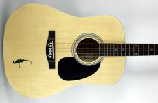 Willie Nelson Signed Huntington Pro Acoustic Guitar BAS #B73209