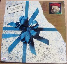 Willie Nelson signed LP Album Cover Pretty Paper PSA/DNA autographed