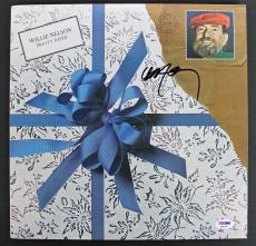 Willie Nelson Signed 'Pretty Paper' Album Cover W/ Vinyl PSA/DNA #AB81087