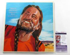 Willie Nelson Signed Record Album Greatest Hits (& Some That Will Be)  JSA AUTO