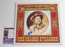 Willie Nelson Signed Red Headed Stranger Record Album Jsa Coa K18829
