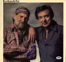 Willie Nelson Signed San Antonio Rose Album Cover AFTAL UACC RD COA PSA