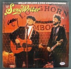 Willie Nelson Signed 'Songwriter' Album Cover W/ Vinyl PSA/DNA #AB81091