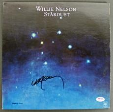 Willie Nelson Signed 'Stardust' Album Cover W/ Vinyl PSA/DNA #AB81084