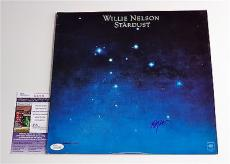 Willie Nelson Signed Stardust Record Album Jsa Coa K42136