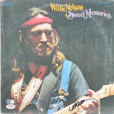 Willie Nelson Signed 'Sweet Memories' Album Cover W/ Vinyl PSA/DNA #AB81088