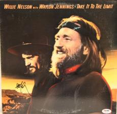 "WILLIE NELSON Signed ""Take It To The Limit"" Album LP PSA/DNA #T83889"