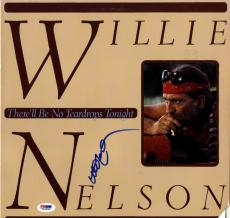 Willie Nelson Signed Therell Be No Teardrops Tonight Album Cover AFTAL UACC RD P