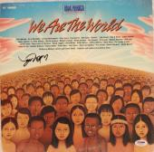 "WILLIE NELSON Signed ""We Are The World"" Album LP PSA/DNA #AA35299"