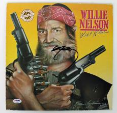 Willie Nelson Signed Wild & Willie Album Cover PSA/DNA #AB43080