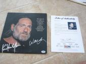 Willie Nelson Sings Kris Kristofferson SignedAutographed LP Record PSA Certified