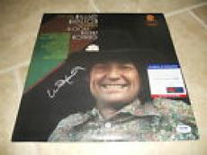 Willie Nelson Spotlight On Signed Autographed LP Album Record PSA Certified