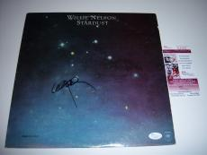 Willie Nelson Stardust Jsa/coa Signed Lp Record Album