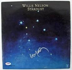 Willie Nelson Stardust Signed Album Cover W/ Vinyl PSA/DNA #P72719