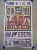 Willie Nelson The Last Breed Signed Autographed 13.5 x 22 Poster PSA Certified
