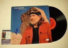 Willie Nelson 'the Promiseland' Signed Record Album Lp Jsa Coa #k42465