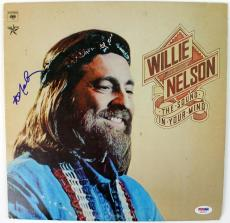 Willie Nelson The Sound In Your Mind Signed Album Cover W/ Vinyl PSA/DNA #S80802
