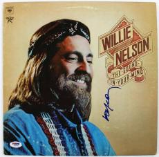 Willie Nelson The Sound In Your Mind Signed Album Cover W/ Vinyl PSA/DNA #U25900