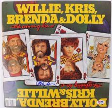 Willie Nelson The Winning Hand Signed Album Cover W/ Vinyl PSA/DNA #S80799