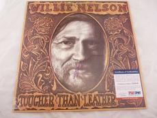 Willie Nelson Tougher Than Leather Signed Autographed Album LP PSA Certified