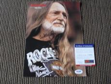 Willie Nelson Vintage Signed Autographed 9.5x12 Magazine Photo #2  PSA Certified