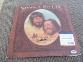 Willie Nelson Waylon & Willie Signed Autographed LP Album Record PSA Certified