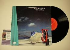 Willie Nelson 'without A Song' Signed Record Album Lp Jsa Coa #k42459