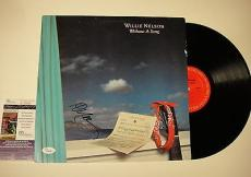 Willie Nelson 'without A Song' Signed Record Album Lp Jsa Coa #k42466