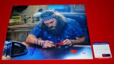 WILLIE ROBERTSON duck commander duck dynasty signed PSA/DNA 11x14 photo